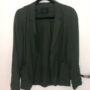 Olive Green Aritizia Talula Lightweight Blazer